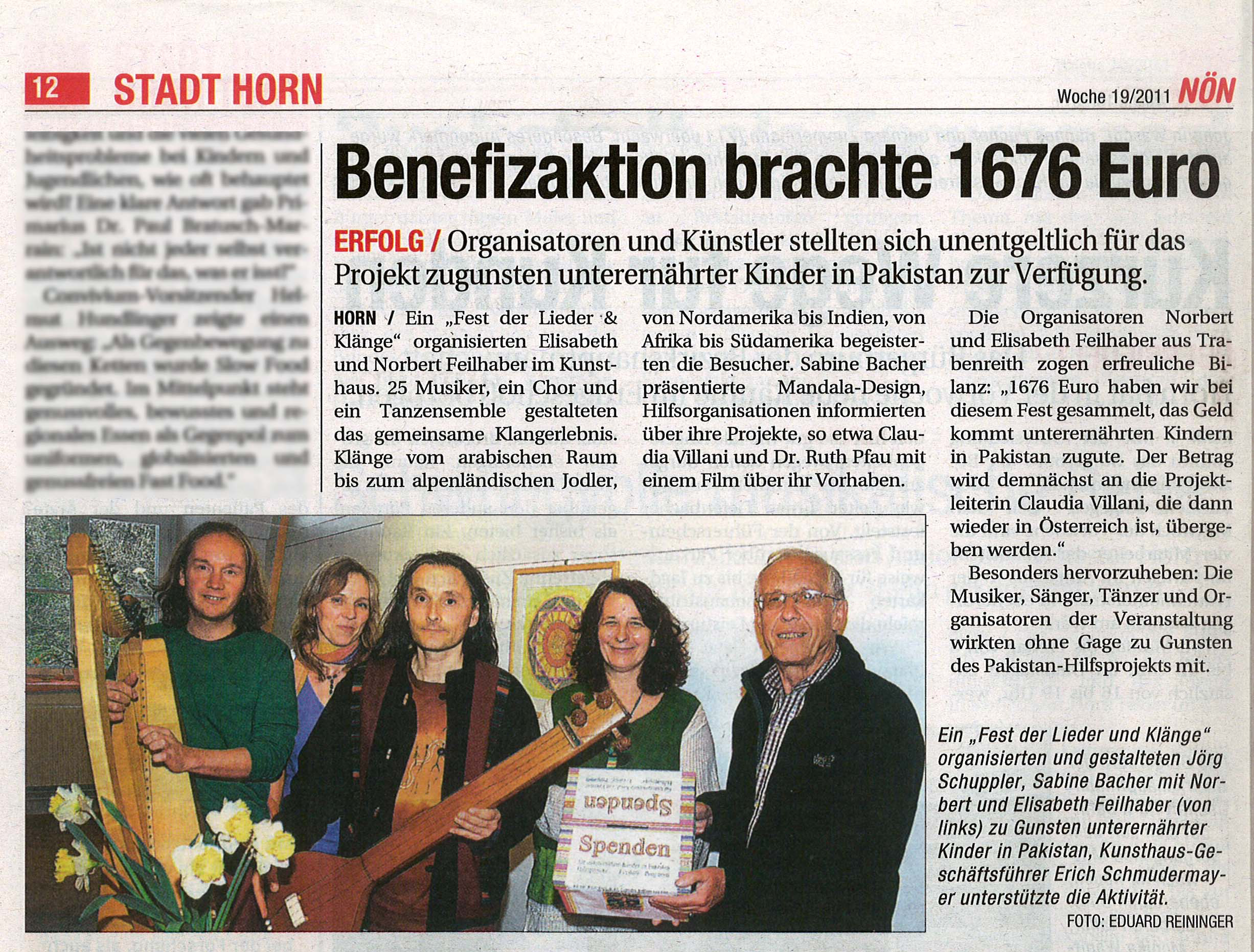 Benefizaktion brachte 1676€ Artikel